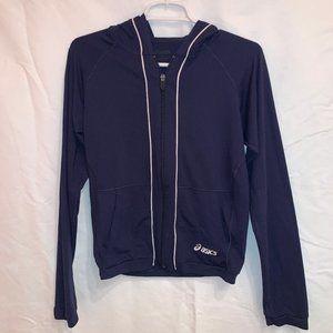 Asics Navy Warm Up Jacket with Hood